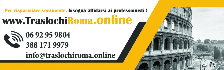 Traslochi Roma  Online Noleggio furgone con autista roma